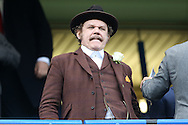Hollywood actor John C. Reilly watching the match from the stands.Premier league match, Chelsea v Arsenal at Stamford Bridge in London on Saturday 4th February 2017.<br /> pic by John Patrick Fletcher, Andrew Orchard sports photography.
