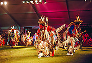 Tommy Christian, Assiniboine Sioux, dancing at the Schemitzun Powwow in North Stonington, Connecticut, on the Mashantucket Pequote reservation in 1996