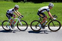 STIMULAK Klemen of KK Radenska and VAN HECKE Preben of Topsport Vlaanderen during 1st Stage (164 km) at 19th Tour de Slovenie 2012, on June 14, 2012, in Celje, Slovenia. (Photo by Matic Klansek Velej / Sportida)