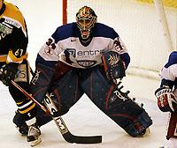 Ishockey , 16. januar 2005 , UPC ligaen , Vålerenga - Stavanger Oilers , Vålerengas keeper Tyrone Garner