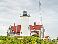 Nobska Lighthouse on Cape Cod at Woods Hole.Massachusetts,USA.