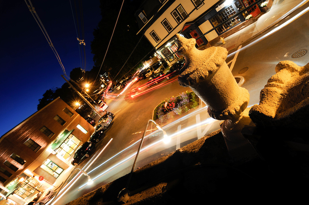 Overlooking the street from the roof of 5 Corners Kitchen in Marblehead, MA.
