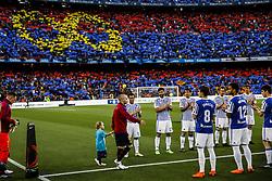May 20, 2018 - Barcelona, Catalonia, Spain - Real Sociedad players making a corridor for 08 Andres Iniesta from Spain of FC Barcelona during the La Liga football match between FC Barcelona v Real Sociedad at Camp Nou Stadium in Spain on May 20 of 2018. (Credit Image: © Xavier Bonilla/NurPhoto via ZUMA Press)