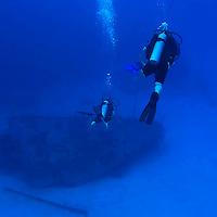 Scuba Diver, Oro Verde Wreck, Grand Cayman
