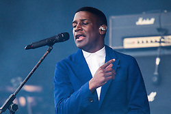 © Licensed to London News Pictures . 06/06/2015. Manchester , UK . LABRINTH ( Timothy McKenzie ) on the main stage at The Parklife 2015 music festival in Heaton Park , Manchester . Photo credit : Joel Goodman/LNP