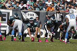 Philadelphia Eagles long snapper Jon Dorenbos (46) during the NFL game between the Detroit Lions and the Philadelphia Eagles on Sunday, October 14th 2012 in Philadelphia. The Lions won 26-23 in Overtime. (Photo by Brian Garfinkel)