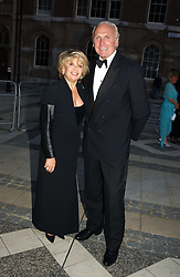 Singer ELAINE PAIGE and MR CHRISTOPHER LAWRENCE-PRICE at a tribute to Luciano Pavarotti in aid of the British Red Cross held at The Guildhall, City of London on 6th June 2005<br />