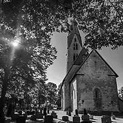 Öja kyrka i Öja, Burgsvik, Sudret, Gotland.<br /> PHOTO © Bernt Lindgren