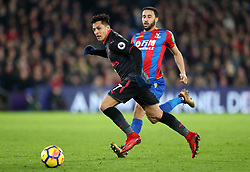Arsenal's Alexis Sanchez (left) and Crystal Palace's Andros Townsend in action during the Premier League match at Selhurst Park, London, Thursday 28th December 2017