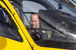 July 27, 2017 - Cambridge, United Kingdom - Image licensed to i-Images Picture Agency. 27/07/2017. Cambridge, United Kingdom. Prince William on his last day at East Anglia Air Rescue at Cambridge Airport, United Kingdom.  Picture by ROTA / i-Images (Credit Image: © Rota/i-Images via ZUMA Press)