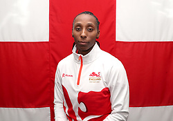 Team England's Corrine Humphries poses for a photo during the kitting out session at Kukri Sports HQ, Preston.