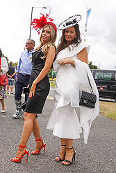 © Licensed to London News Pictures. 10/09/2021.Doncaster, UK. Race-goers arrive for Doncaster Cup Day  at the St Leger Festival 2021 at Doncaster racecource. Photo credit: Ioannis Alexopoulos/LNP