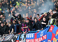 Crystal Palace's fans celebrate their sides opening goal during the Premier League match at the Stamford Bridge Stadium, London. Picture date: April 1st, 2017. Pic credit should read: David Klein/Sportimage via PA Images