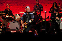 Bruce Springsteen and the E Street Band performs at the Apollo in New York...Photo by Robert Caplin..
