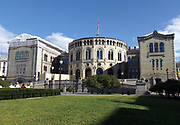 The storting building, Storting translates to 'the great council'. This building is the Norwegian Parliament in Oslo, built in 1866, designed by Emil Victor Langlet.