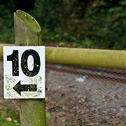 10 number arrow sign