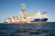 Stena Carron oil drill ship pictured recently moored Lerwick, Shetland Islands, has since been boarded by Greenpeace protestors.
