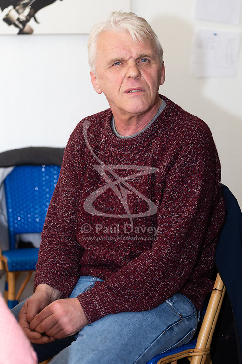 Retired James Gosling, 58, is involved in a long running dispute with Camden council that began when his flat was flooded with sewage. West Hampstead, London, October 25 2018.