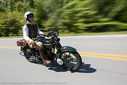 Dean Bordigioni (Dino) riding his 1923 Harley-Davidson JS during Stage 5 of the Motorcycle Cannonball Cross-Country Endurance Run, which on this day ran from Clarksville, TN to Cape Girardeau, MO., USA. Tuesday, September 9, 2014.  Photography ©2014 Michael Lichter.