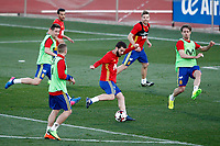 Spain's Ander Herrera, Gerard Deulofeo, Pedro Rodriguez, Nacho Fernandez, Asier Illarramendi and Nacho Monreal during training session. March 20,2017.(ALTERPHOTOS/Acero)