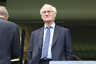 Bruce Buck, the Chelsea Chairmen looking on from the stands. Premier league match, Chelsea v Leicester city at Stamford Bridge in London on Saturday 15th October 2016.<br /> pic by John Patrick Fletcher, Andrew Orchard sports photography.