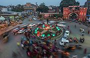 A wedding takes a turn around the roundabout, Amritsar, Punjab