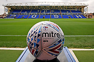 The match ball before the EFL Sky Bet League 1 match between Peterborough United and Luton Town at London Road, Peterborough, England on 18 August 2018.