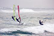 Windsurfing in the Mediterranean sea, Israel