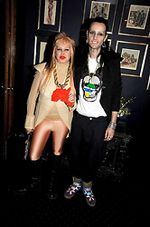 MRS LOUISE MAZZILLI and MR ROCKY MAZZILLI at the Tatler Magazine Little Black Book party at Tramp, 40 Jermyn Street, London SW1 on 5th November 2008.