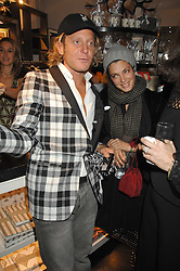 LAPO ELKANN and his sister GINEVRA ELKANN at a party hosted by Allegra Hicks to launch Lapo Elkann's fashion range in London held at Allegra Hicks, 28 Cadogan Place, London on 14th November 2007.<br /><br />NON EXCLUSIVE - WORLD RIGHTS