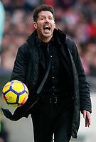 Atletico de Madrid's coach Diego Pablo Cholo Simeone during La Liga match. January 20,2018. (ALTERPHOTOS/Acero)