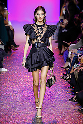 October 3, 2016 - Paris, France - A model on the catwalk during the Elie Saab womenswear ready to wear show in Paris France. (Credit Image: © Visual via ZUMA Press)