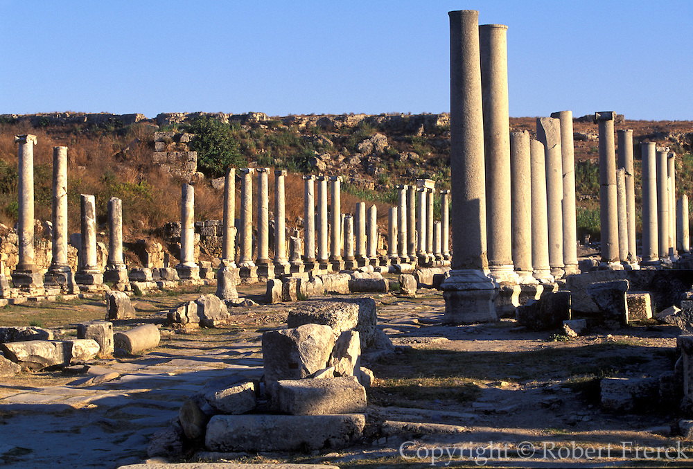 TURKEY, GREEK AND ROMAN Perge; avenue leading to acropolis