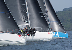 Sailing - SCOTLAND  - 27th May 2018<br /> <br /> 3rd days racing the Scottish Series 2018, organised by the  Clyde Cruising Club, with racing on Loch Fyne from 25th-28th May 2018<br /> <br /> <br /> RC35, Start, IRL3307, Jacob VII, John Stamp, Port Edgar, Corby 33, GBR8543R, Jings, Robin Young, CCC, J109, GBR 732R, Wildebeeste, Craig Latimer, Ker 32<br /> <br /> Credit : Marc Turner<br /> <br /> Event is supported by Helly Hansen, Luddon, Silvers Marine, Tunnocks, Hempel and Argyll & Bute Council along with Bowmore, The Botanist and The Botanist