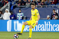 May 15, 2019 - Foxborough, MA, U.S. - FOXBOROUGH, MA - MAY 15: Chelsea FC midfielder Jorginho (5) holds the ball during the Final Whistle on Hate match between the New England Revolution and Chelsea Football Club on May 15, 2019, at Gillette Stadium in Foxborough, Massachusetts. (Photo by Fred Kfoury III/Icon Sportswire) (Credit Image: © Fred Kfoury Iii/Icon SMI via ZUMA Press)