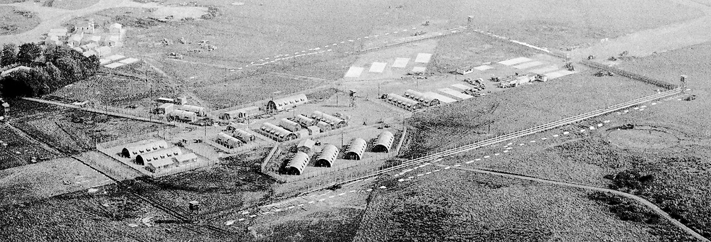 Aerial view of Long Kesh Internment Camp, near Lisburn, Co Antrim, N Ireland, January, 1972, 197201000029<br /> <br /> Copyright Image from Victor Patterson, Belfast, UK<br /> <br /> t: +44 28 9066 1296 (from Rep of Ireland 048 9066 1296)<br /> m: +44 7802 353836<br /> e: victorpattersonbelfast@gmail.com<br /> <br /> www.images4media.com<br /> <br /> Please see my full Terms and Conditions of Use at https://www.images4media.com/p/terms-conditions - it is IMPORTANT that you familiarise yourself with them.<br /> <br /> Images used online incur an additional cost. This cost should be agreed in writing in advance. Online images must be visibly watermarked i.e. © Victor Patterson or that of the named photographer within the body of the image. The original metadata must not be deleted from images used online.<br /> <br /> This image is only available for the use of the download recipient i.e. television station, newspaper, magazine, book publisher, etc, and must not be passed on to a third party. It is also downloaded on condition that each and every usage is notified within 7 days to victorpattersonbelfast@gmail.com.<br /> <br /> The right of Victor Patterson (or the named photographer) to be identified as the author is asserted in accordance with The Copyright Designs And Patents Act (1988). All moral rights are asserted.
