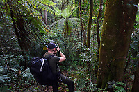 Photographer Roy Mangersnes, Wild Wonders of China, taking pictures at Tongbiguan nature reserve, Dehong prefecture, Yunnan province, China