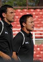 Photo: Ed Godden.<br />Swindon Town v Stockport County. Coca Cola League 2. 26/08/2006. Swindon Management team Gus Poyet (L) and Dennis Wise.