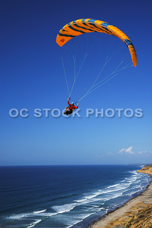 Paragliding Along the Coast of La Jolla California
