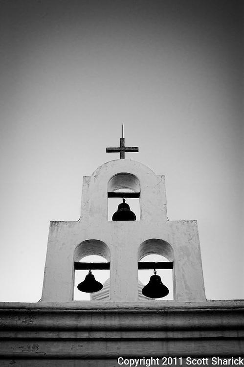 At the Mission San Xavier del Bac south of Tucson, Arizona.