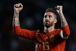 September 11, 2018 - Elche, Alicante, Spain - Sergio Ramos of Spain celebrates a goal during the UEFA Nations League A group four match between Spain and Croatia at Manuel Martinez Valero on September 11, 2018 in Elche, Spain  (Credit Image: © David Aliaga/NurPhoto/ZUMA Press)
