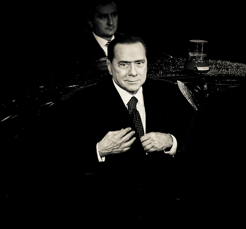Brussels, Belgium 16 December 2010<br /> Italian Prime Minister Silvio Berlusconi arrives at the European Union leaders summit in Brussels.<br /> Photo: SCORPIX /  Patrick Mascart