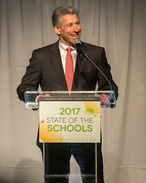 Joe Greenberg comments during the State of the Schools luncheon at the Hilton of the Americas, February 15, 2017.