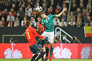 Julian Draxler (Germany) and Daniel Carvajal , Gerard Pique (Spain) during the International Friendly Game football match between Germany and Spain on march 23, 2018 at Esprit-Arena in Dusseldorf, Germany - Photo Laurent Lairys / ProSportsImages / DPPI