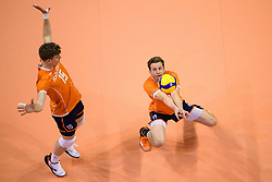 06-01-2020 NED: CEV Tokyo Volleyball European Qualification Men, Berlin<br /> Match Serbia vs. Netherlands 3-0 / Jelte Maan #11 of Netherlands, Gijs van Solkema #15 of Netherlands