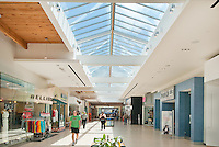 Hillside Mall in Victoria, BC, is renovated before sale and includes the additions of stores like Sport Chek, Marshalls and a larger flagship Shoppers Drug Mart. The food court, mall surfaces and roof are all upgraded in the renovation, shot for CBRE Toronto.