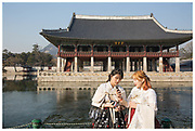 Mixing tradition with technology at the Gyeongbokgung Palace, in Seoul, South Korea.