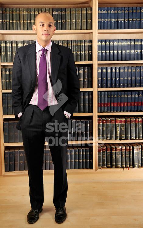 Picture by Daniel Hambury.23/12/08..Lawyer and Labour candidate for Stretham, Chuka Ummana.