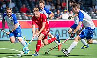 ANTWERPEN -  Scotland-England . Belfius Eurohockey Championship (men) hockey.  Christopher Griffiths (Eng)  COPYRIGHT KOEN SUYK
