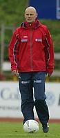 Fotball. Privatlandskamp U21. Sandefjord. 20.05.2002.<br /> Norge v Nederland 1-1.<br /> Ståle Solbakken, assistenttrener Norge.<br /> Foto: Morten Olsen, Digitalsport